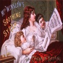 Cartoon of Winslows Soothing Syrup, the primary ingredients were morphine and alcohol.